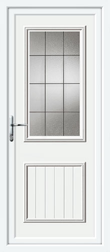 Chester One Square Lead UPVC Back Door