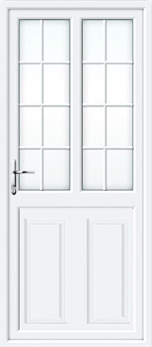 Clinton Half Panel Dual Glazed Georgian Bar UPVC Back Door