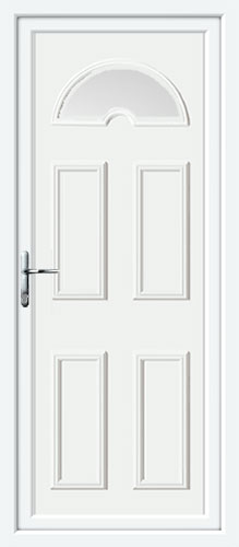 Carter One Glazed UPVC Back Door