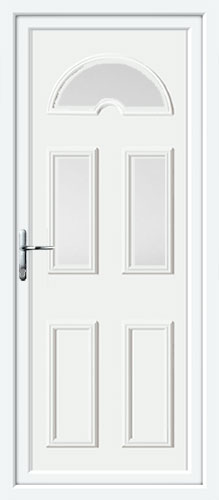 Carter Three Glazed UPVC Back Door