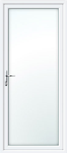 Full Glass UPVC Back Door