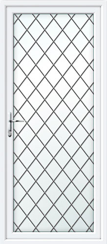 Full Glass Diamond Lead UPVC Back Door