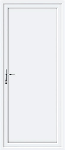 Flat Panel Solid UPVC Back Door