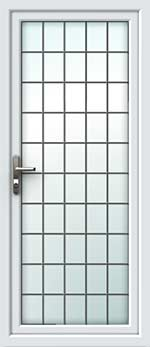 Full Glass Square Lead UPVC Back Door