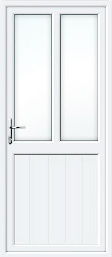 Tongue & Groove Half Panel Dual Glazed UPVC Back Door
