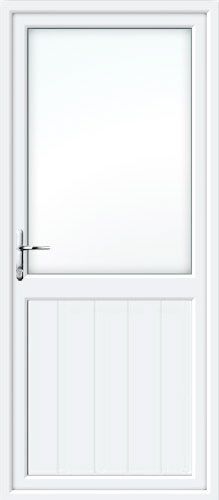 Tongue & Groove Half Panel UPVC Back Door