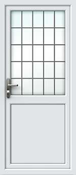 Half Glazed Square Lead UPVC Back Door
