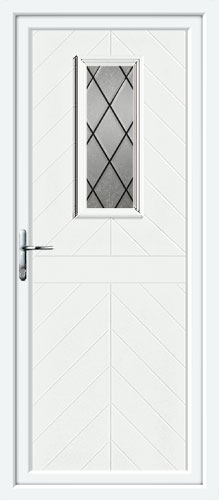 Monroe One Diamond Lead UPVC Back Door