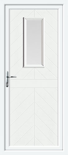 Monroe One Glazed UPVC Back Door