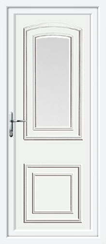 Reagan One Glazed UPVC Back Door