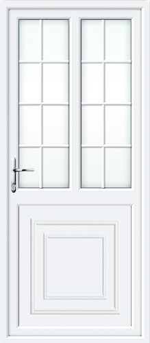 Reagan Half Panel Dual Glazed Georgian Bar UPVC Back Door