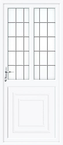 Reagan Half Panel Dual Glazed Square Lead UPVC Back Door