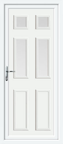 Wilson Four Glazed UPVC Back Door