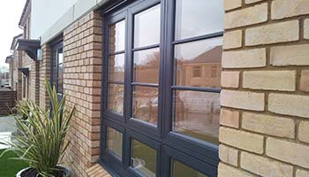 grey flush upvc windows