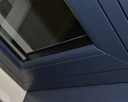 grey flush upvc window