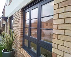 grey upvc window