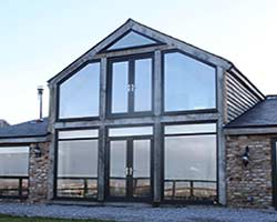 contemporary grey upvc windows