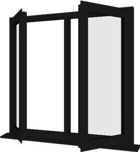 Black upvc window style 14 buy online supply only for Buy house windows online