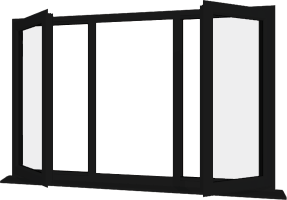 Black UPVC Window Style 24 - Buy Online Supply Only