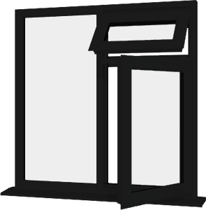 Black upvc window style 28 buy online supply only for Order house windows online