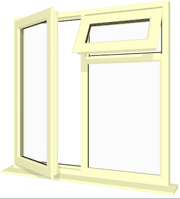 Cream Upvc Window Style 20 Buy Online Supply Only