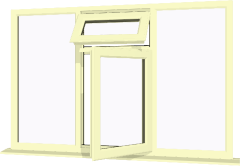 Cream Upvc Window Style 47 Buy Online Supply Only