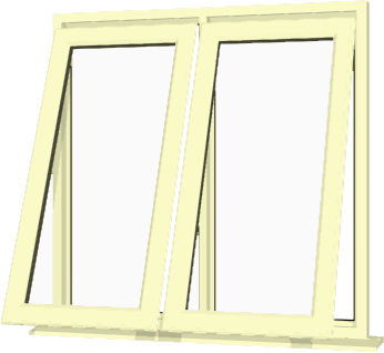 Cream Upvc Window Style 53 Buy Online Supply Only