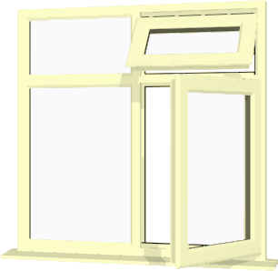 Cream upvc window style 70 buy online supply only for Buy house windows online