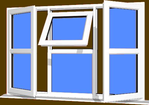 White UPVC Window Style 122