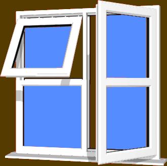 White UPVC Window Style 123