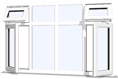 White upvc window style 40 buy online supply only for Order house windows online