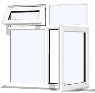White upvc window style 68 buy online supply only for Order house windows online